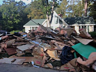 House debris